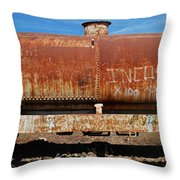 Ols Rusty Container Train Wagon Throw Pillow