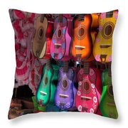 Olvera Street Ukeleles Throw Pillow