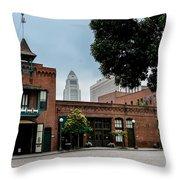 Olveria Street No 1 Fire House Throw Pillow