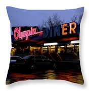 Olympia Diner Throw Pillow