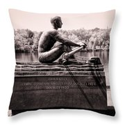 Olympic Champion - John B Kelly Throw Pillow