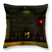 Olympic Club At Night Throw Pillow