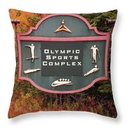 Olympic Complex  Throw Pillow