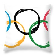 Olympic Ensos Throw Pillow
