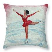 Olympic Figure Skater Throw Pillow