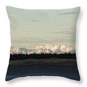 Olympic Mountains Throw Pillow