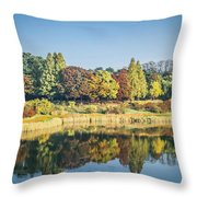 Olympic Park In Seoul Throw Pillow