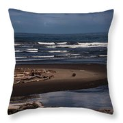 Olympic Peninsula Beach Throw Pillow
