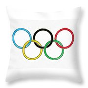 Olympic Rings Pencil Throw Pillow