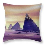 Olympic Seashore Throw Pillow