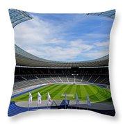 Olympic Stadium Berlin Throw Pillow
