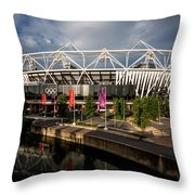 Olympic Stadium Throw Pillow