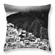 Olympos. Karpathos Island Greece Throw Pillow
