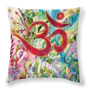 Om In Nature Throw Pillow