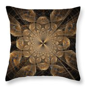 Om Particles Throw Pillow