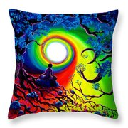 Om Tree Of Life Meditation Throw Pillow
