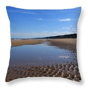 Omaha Beach, Normandy, France. Throw Pillow