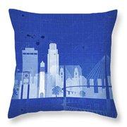 Omaha Blueprint Skyline Throw Pillow