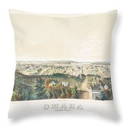 Omaha, Nebraska Looking North From Forest Hill 1867 Throw Pillow