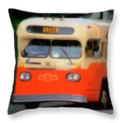 Omaha Retro Throw Pillow