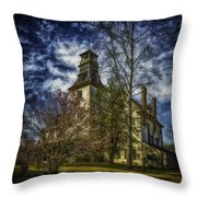 Ominous Batsto Mansion Throw Pillow