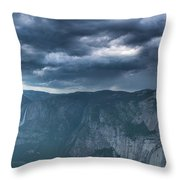 Ominous Clouds Over Glacier Point Throw Pillow