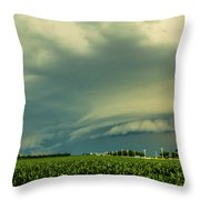 Ominous Nebraska Outflow 001 Throw Pillow