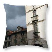 Ominous Sky In Croatia Throw Pillow