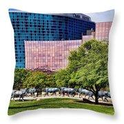 Omni Hotel Dallas Texas Throw Pillow