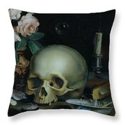 Omnia Vanitas Throw Pillow