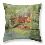 On A Bayou Throw Pillow