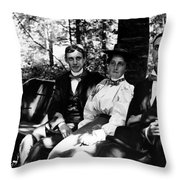 On A Bench In Palmer Park, Detroit, Sept. 6,1897 Throw Pillow