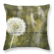 On A Breeze Quote Throw Pillow