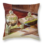 On A Desk At Eugene O Neill Tao House Throw Pillow