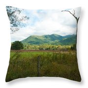 On A Hill Far Away Throw Pillow