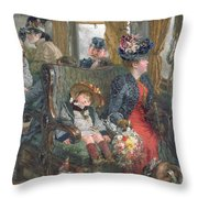 On A Journey To Beautiful Countryside Throw Pillow