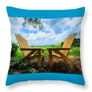 On A Pretty Summer Day Oil Painting Throw Pillow