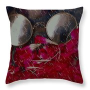 On A Rainy Day Its Fine To Be Inside Throw Pillow