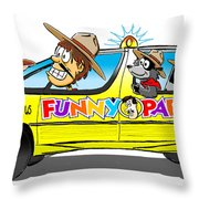 On A Road Trip We Will Go Throw Pillow