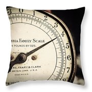 On A Scale Of One To Four Throw Pillow