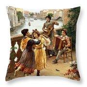 On A Venetian Balcony Throw Pillow