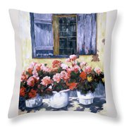 On A Walk In France Throw Pillow