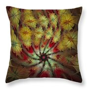 On A Windy Autumn Day Throw Pillow