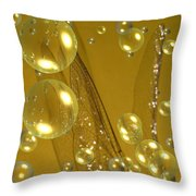 On Angel's Wings Throw Pillow