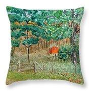 On Big Laurel In Autumn No.2 Throw Pillow