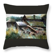 On Borrowed Time Throw Pillow
