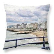On Brighton's Palace Pier Throw Pillow