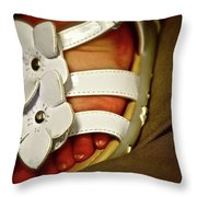On Daddy's Lap Throw Pillow
