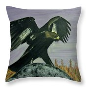 On Eagles Wings Throw Pillow