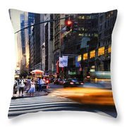 On Fifth Throw Pillow
